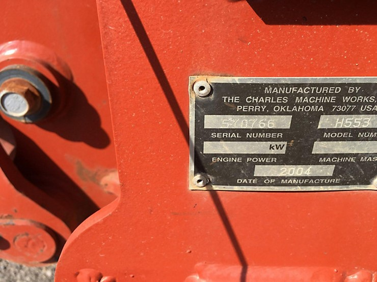 2004 Ditch Witch RT55 - Lot #26109, Wright City, MO Equipment