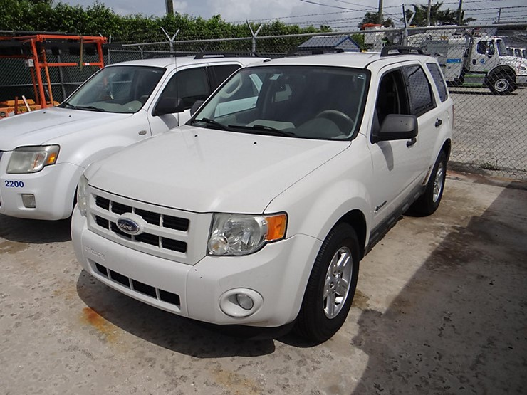 2009 Ford Escape Lot 128340 Riviera Beach Fl Equipment Auction