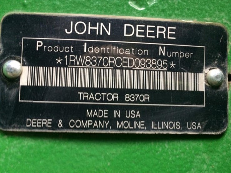 2014 john deere 8370r lot 159 online only equipment auction 2014 john deere 8370r mfwd tractor np6096 john deere powertech pss 90l 6 cylinder tier 4 diesel engine 370hp autopower ivt transmission sciox Images