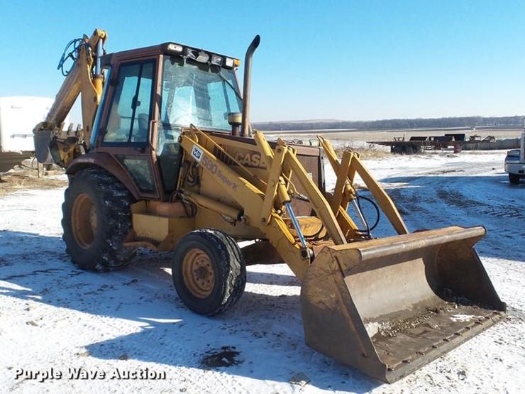 1993 Case 580SK - Lot #DC5709, Online Only Construction