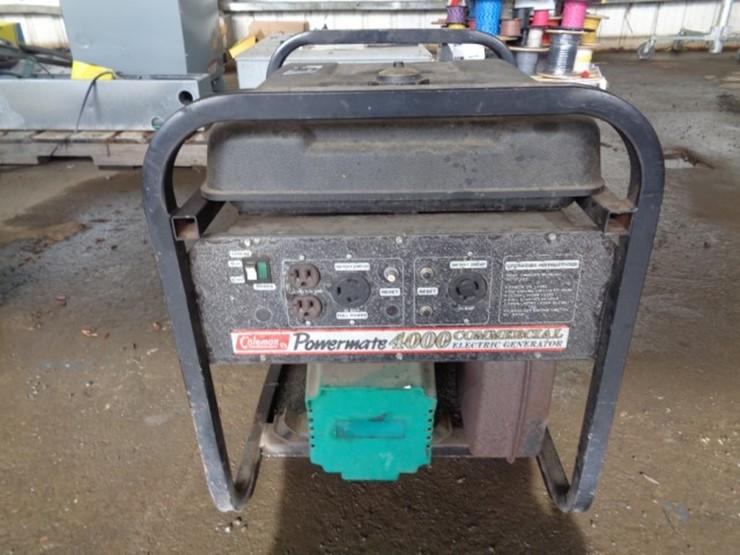 Coleman Powermate 4000W Generator - Lot #8561, Equipment