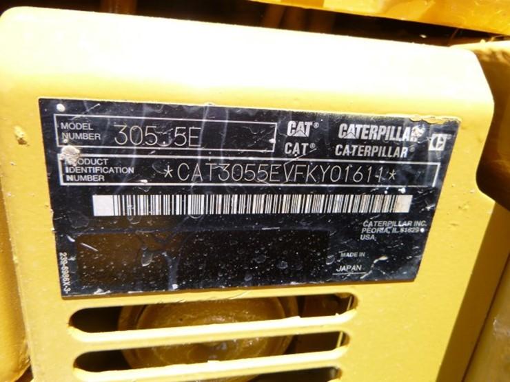 2015 Caterpillar 305 5E CR - Lot #2423, Equipment Auction, 6