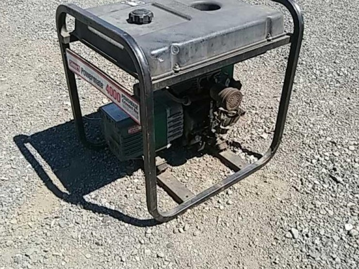 Coleman Powermate 4000 Generator - Lot #8530, Online Only
