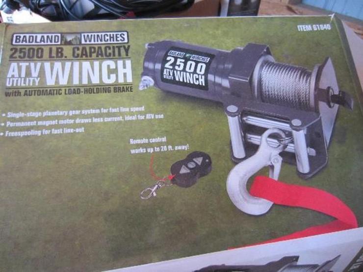 Badland ATV Winch - Lot #2136, Equipment Auction, 8/7/2018