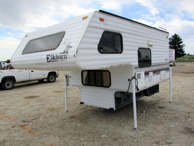 Remarkable 1996 Fleetwood Elkhorn Pickup Camper Lot P 220 July 24Th Home Interior And Landscaping Mentranervesignezvosmurscom