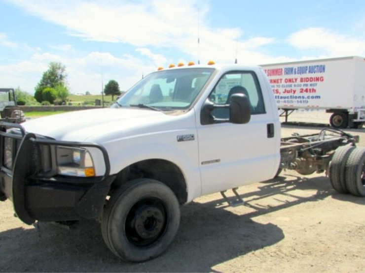 2002 Ford F550 Lot P 172 JULY 24TH ONLINE ONLY EQUIPMENT
