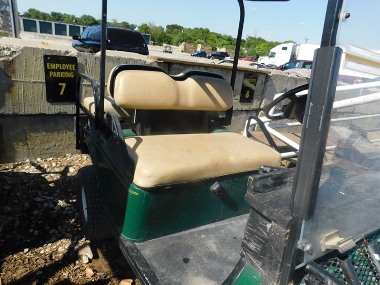 FOUR SEATER EZ GO GOLF CART W/BUILT IN CHARGER AND WINCH - Lot #8314 on ezgo golf cart enclosures, ezgo golf cart windshields, ezgo golf cart accessories, ezgo rear view mirrors, ezgo golf cart lift kits,