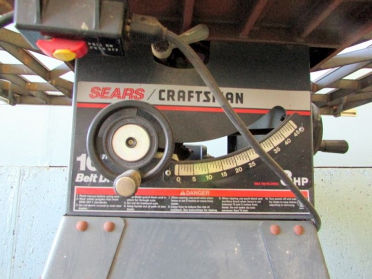 Craftsman 10 Table Saw Lot E 801 Online Only Equipment Auction
