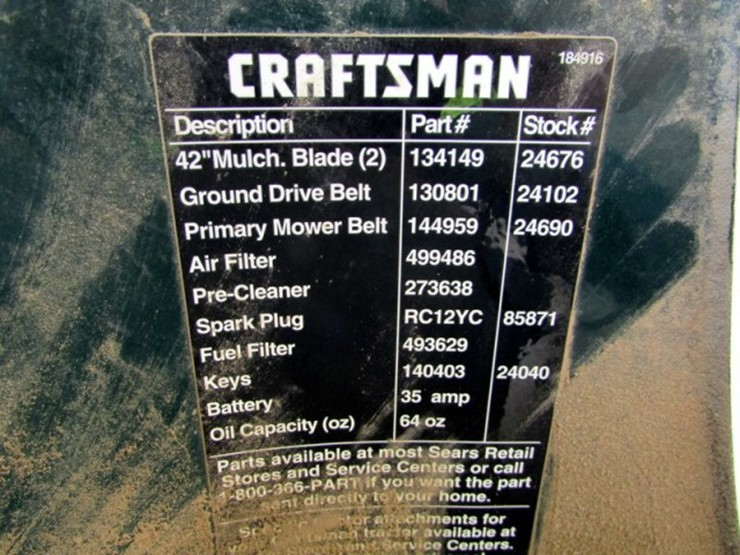 Craftsman Lt1000 Fuel Filter