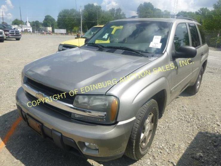 2003 Chevrolet Trailblazer Lot 1076 Equipment Auction 9152018