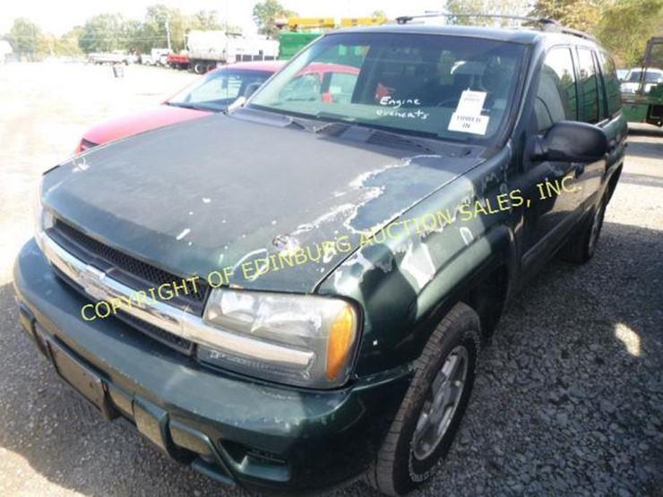 2003 Chevrolet Trailblazer Lot 1166 Equipment Auction 1020