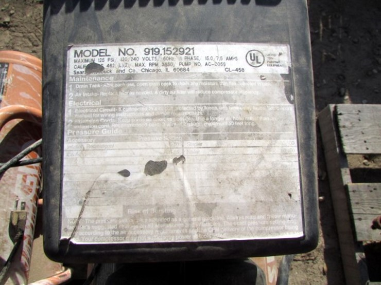 Air Compressors (2) | Pickett Auction Service - Lot #X-285