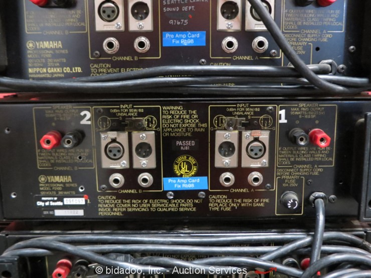 Yamaha Pro Audio Series P2100 Amp - Lot #, Online Only