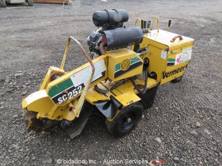 Vermeer SC252 Lot Online Only Equipment Auction 12 20