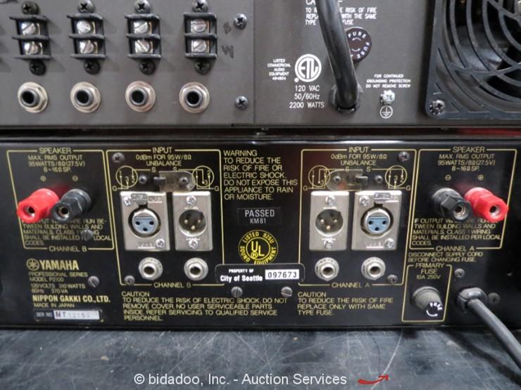JBL Yamaha Rane Pro Audio Amplifiers - Lot #, Online Only