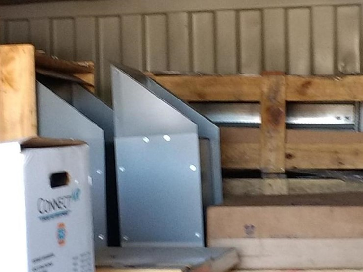 20' CONEX BOX, WITH CONTENTS OF (UNUSED) HVAC PARTS AND