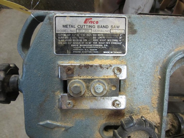 Enco Metal Cutting Band Saw - Lot #4765, Online Only