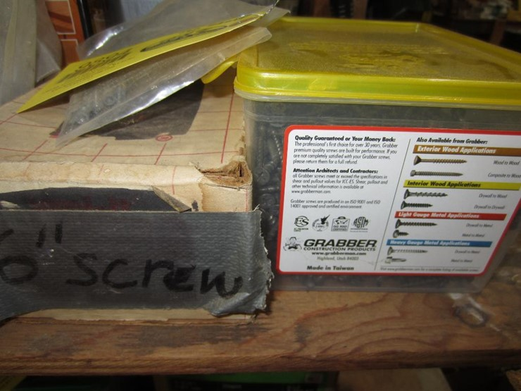 Drywall Screws, Deck Screws, Hidden Fasteners, Nails & More - Lot