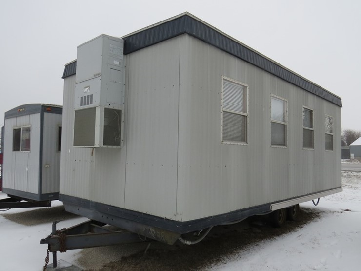 12' x 26' Tandem Axle Portable Jobsite Office Trailer, Electric Heat