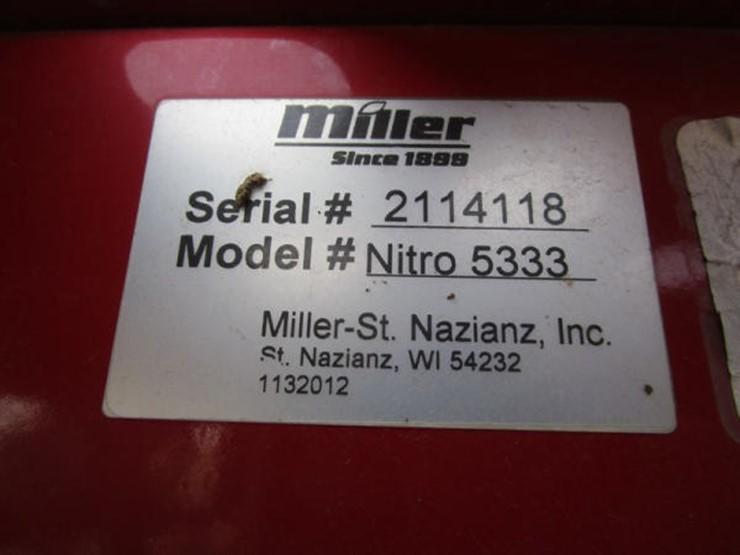 2013 Miller NITRO 5333 - Lot #30, Online Only Equipment