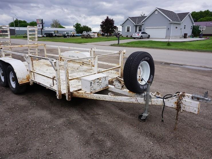 1980 Homemade 14' Tandem Axle Heavy Duty Flatbed Trailer