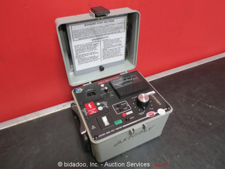 Biddle Megger 230425 Ac Dc High Pot Tester Lot Weekly Online Only Equipment Auction 6 20 2019 Bidadoo Online Auctions Auction Resource