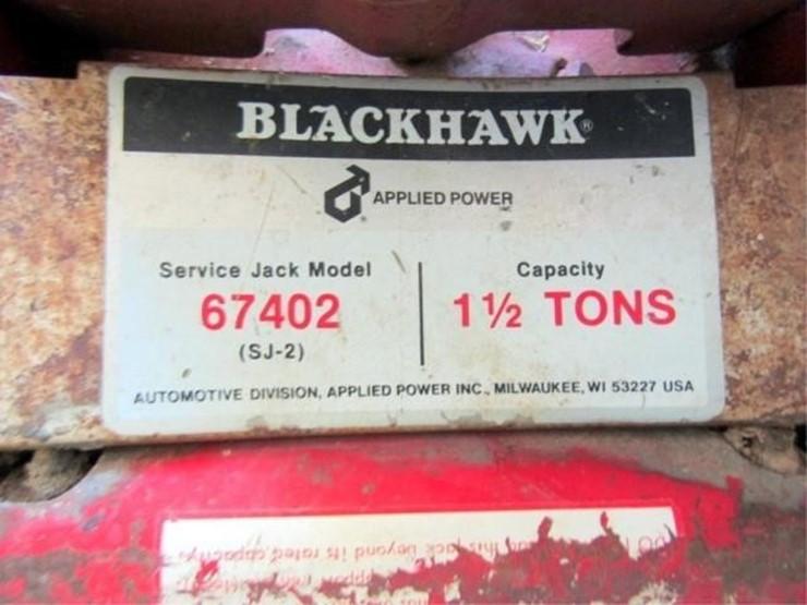 G-993 Blackhawk 1 1/2 Ton Floor Jack - Lot #, 2019 July Farm